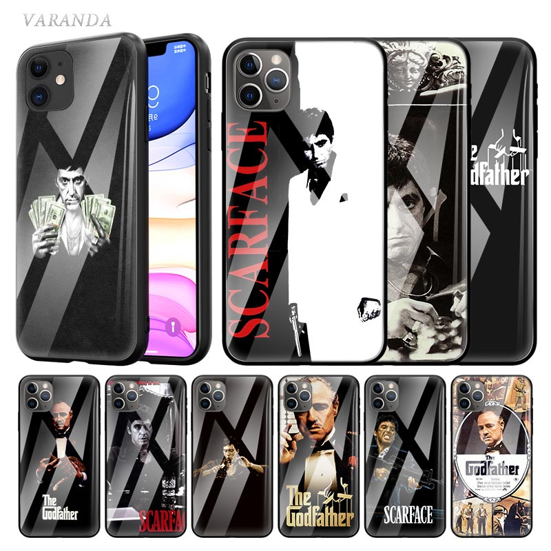 """Scarface"" Tony Montana de caso para Apple iphone 11 Pro X XS X Max XR 8 7 6 6S Plus templado Sac teléfono Coque Tasche"