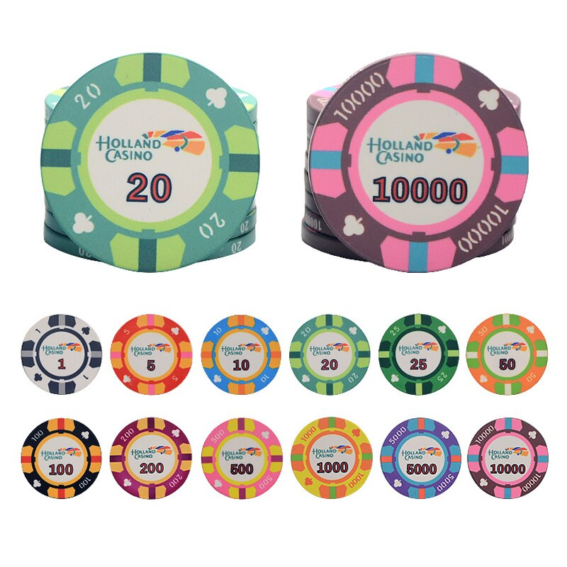 10 Pçs/lote Cerâmica Fichas De Poker Texas Fichas De Poker do Casino Fichas de Poker do Casino Profissional Set Dropshipping Moeda de Poker Personalizável