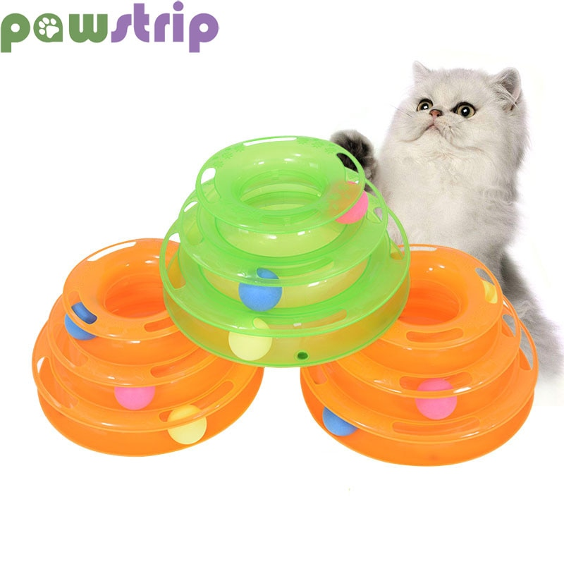 3 уровня, забавная игрушка для кошек, башня, треки, диск, кошка, игрушка для трека, тренировочная, развлекательная пластина, кошачий мяч, игрушки для кошек, котенок