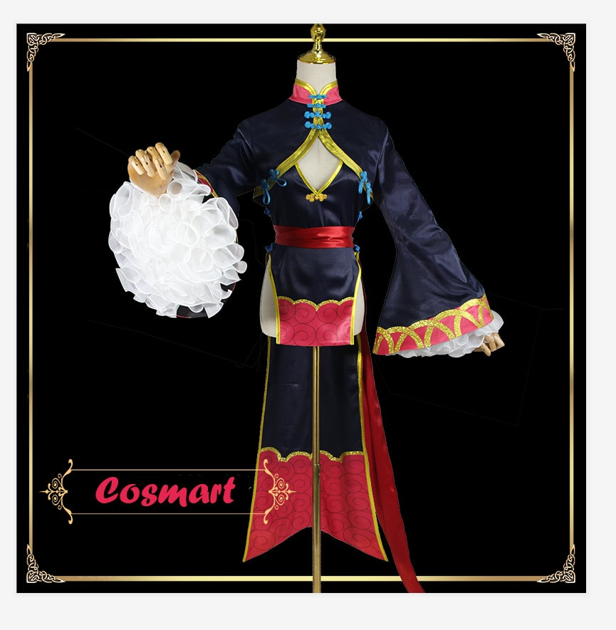 Fate Grand Order FGO Shuten-douji zombie Cosplay Costume Zombie Shuten Douji Full set costume+wig+shoes+hat Halloween costume fo