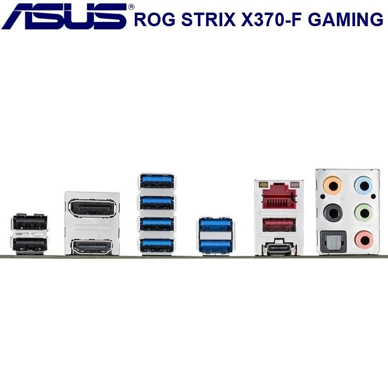 Socket AM4 Asus ROG STRIX X370-F GAMNING Motherboard AMD X370 DDR4 64GB PCI-E 3.0 M.2 SATA III Desktop Asus X370 Mainboard AM4