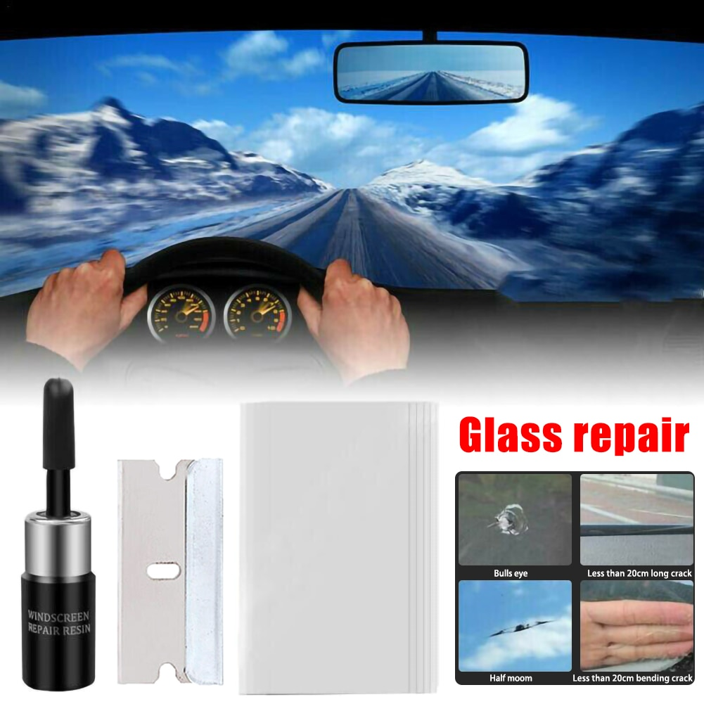 DIY-Tools Car Window Cracked Glass Repair Recover Kit Windshield  Scratch Polishing Essential tools