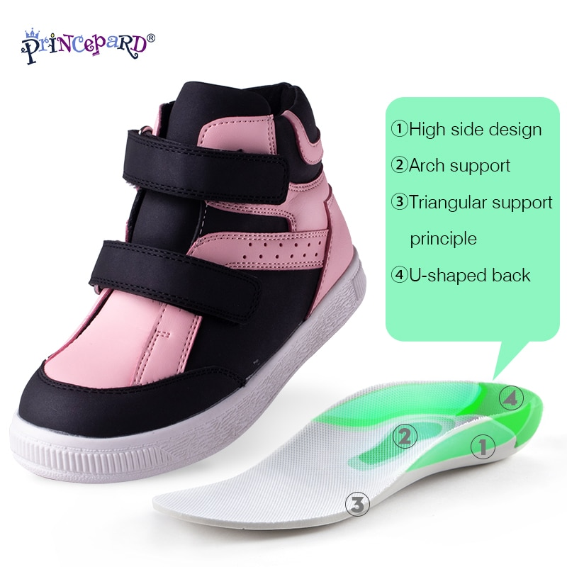 Princepard Orthopedic Casual Shoes for Kids High Top  Ankle Support  Sport Running Shoes Toddler Children Sneakers Autumn Winter enlarge