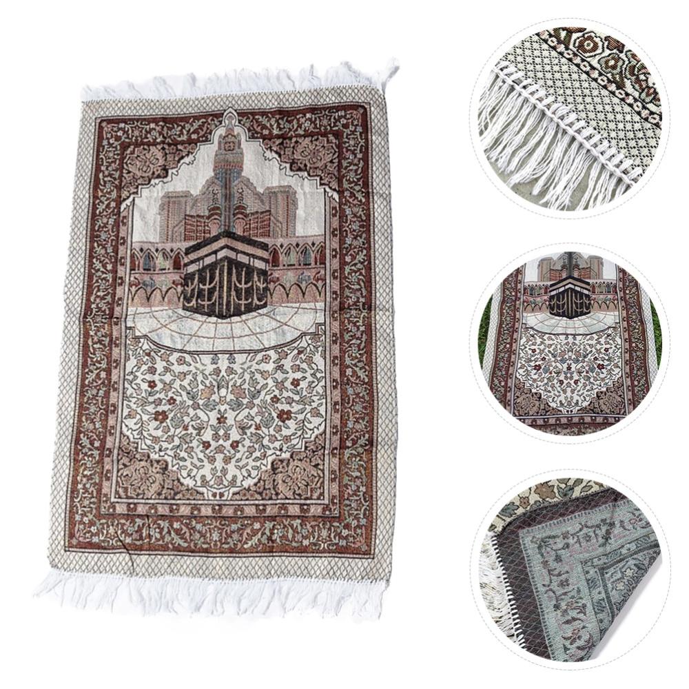 1 Pc Muslim Prayer Rug Comfortable Prayer Mat Lesser Bairam Prayer Carpet недорого