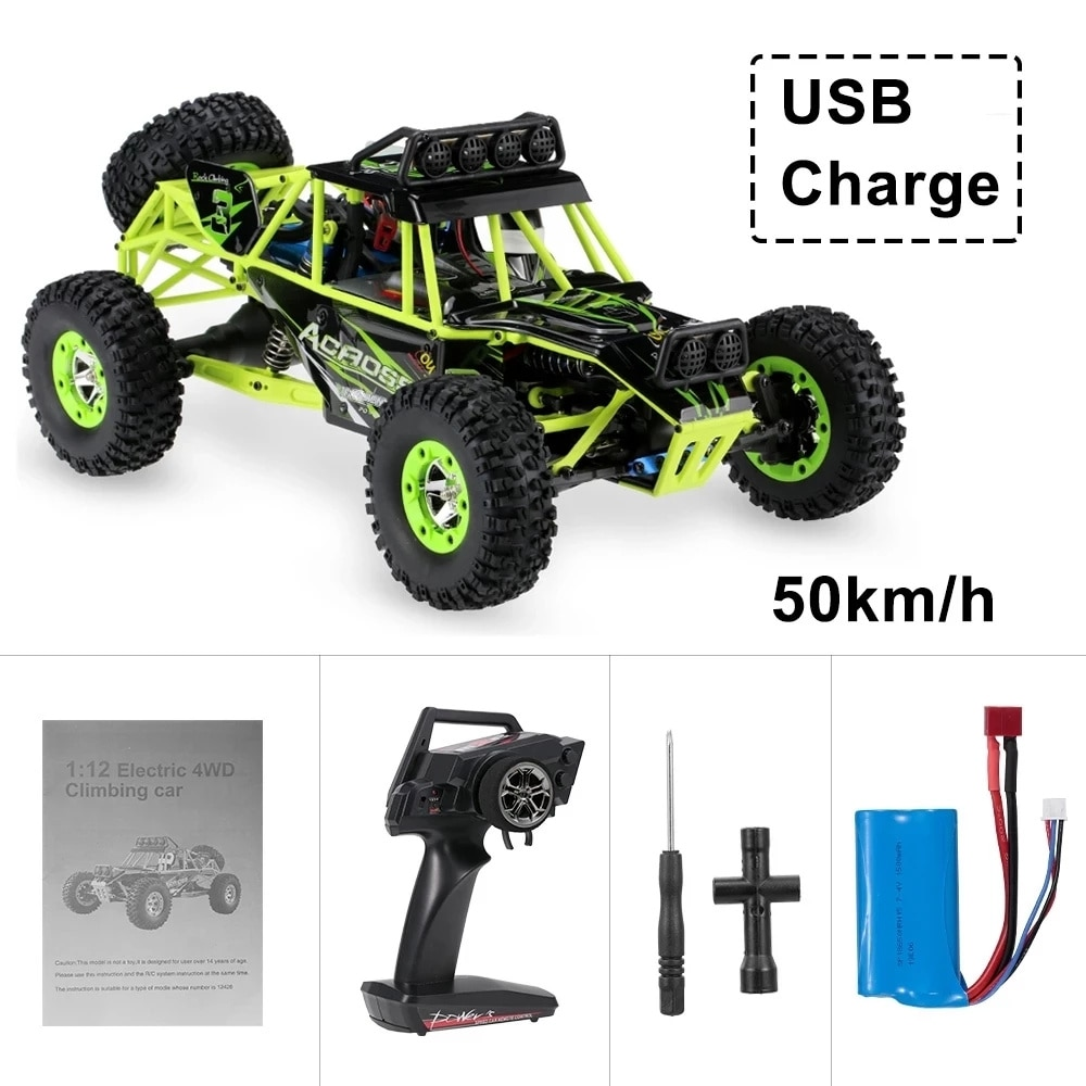 Remote Control Off-Road Vehicle 4WD 1/12 50km / H High Speed Racing Vehicle Rc Electric Car 2.4g Crawler Car Model Toys enlarge