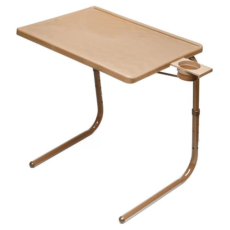 الجدول ماتي للطي رفع للطي طاولة التلفاز وحامل الكأس مع 6 ارتفاع و 3 زاوية التعديلات صينية التلفزيون الأصلي (موكا)