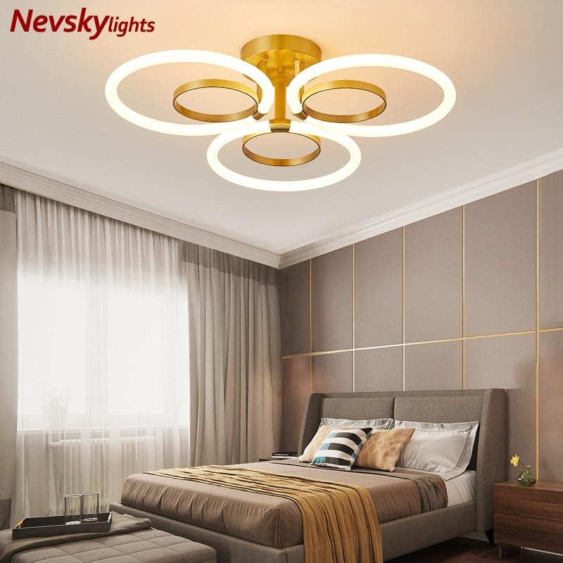 Plafonnier led en laiton minimaliste avec anneau déclairage de plafond, lumière blanche, idéal pour une chambre à coucher, un bar, une cuisine