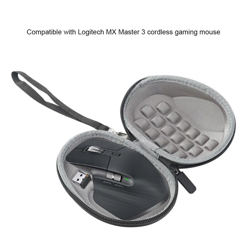 Shockproof Hard Mouse Case Compatible with Logitech MX Master 3 G602 G700S Cordless Gaming Mouse Travel Storage Bag brand new mouse case mouse shell top side and bottom with 1pc mouse feet for logitech performance mx m950 mouse accessories