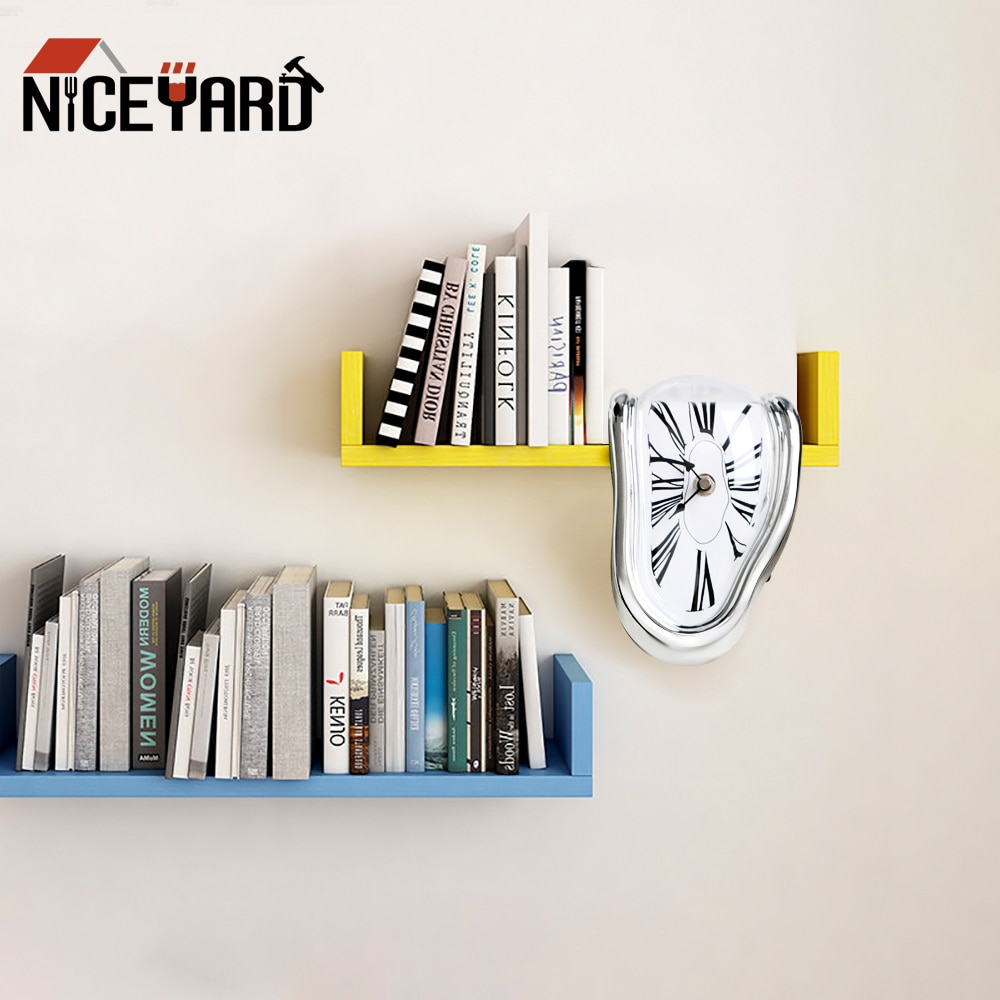 NICEYARD настенные часы для домашнего украшения, новые подарочные часы с эффектом плавления, креативные часы в стиле Surrealist Salvador Dali