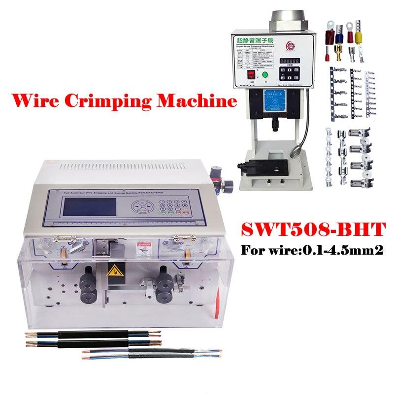 سلك قطاع تجريد آلة SWT508-BHT2 تقشير قطع متجرد لسلك 0.1-4.5mm2 AWG10-AWG28 وآلة العقص الطرفية