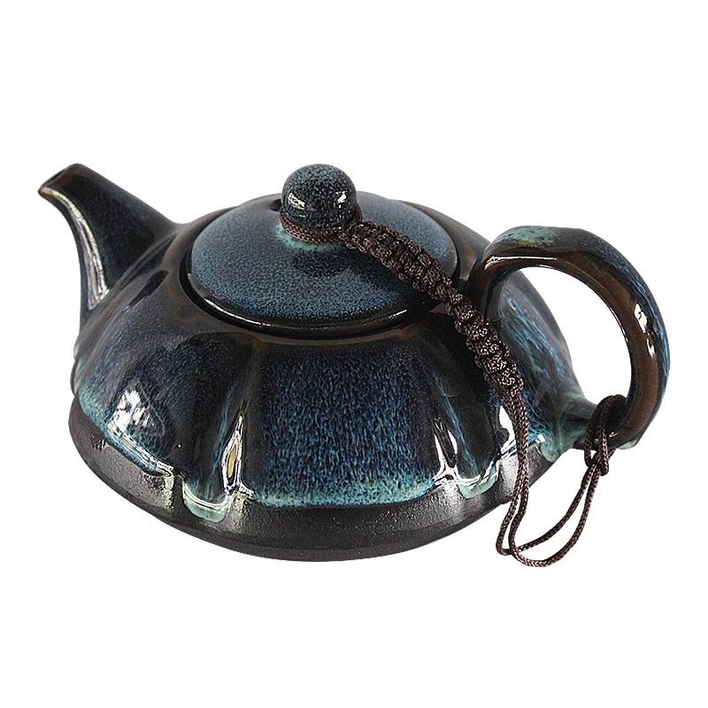 Hecho a mano Tetera de cerámica estilo chino Vintage horno cambio Tetera...