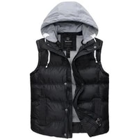 wantdo women vest quilted puffer jacket sleeveless warm winter body warmer with removable hood
