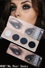 4 kolory paleta cieni do efektu Smoky eye wodoodporna ziemia Nude niebieski szary fioletowy Pigment naturalne piękno makijaż 2020 nowy TSLM1