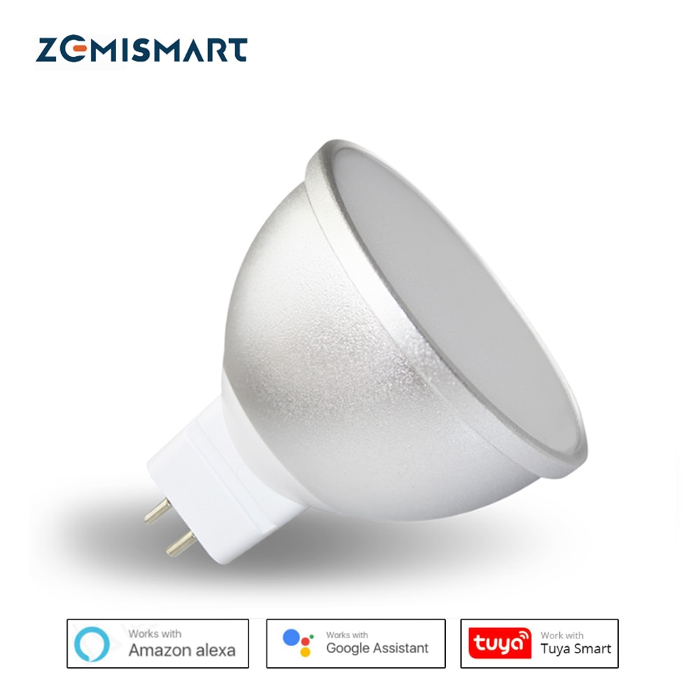 Bombilla LED Gu5.3 MR16 12V WiFi Alexa Google Asistente de hogar Tuya vida inteligente aplicación remota Control RGBCW luz LED atenuador lámpara