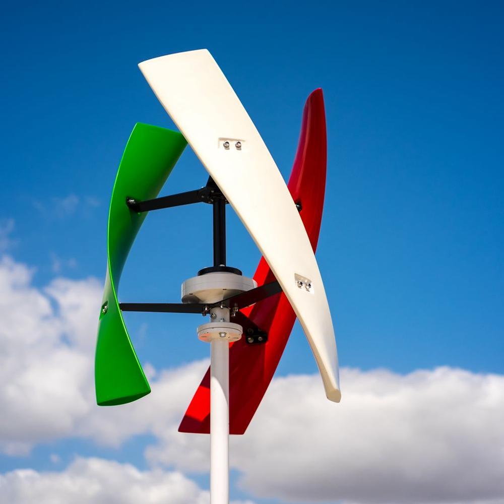 R&X 400w Windmill Vertical Wind Turbine Generator Free MPPT Controller Noiseless for Home Streetlight