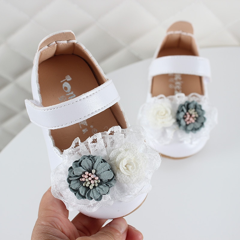 Spring Autumn New Infant Soft Bottom Baby Girls Fashion PU Leathers Sweet Children Shoes Princess Shoes Toddler Shoes