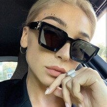 Flat Top Oversize Square Sunglasses Women Fashion Brand Retro Gradient Sun Glasses Leopard Big Frame