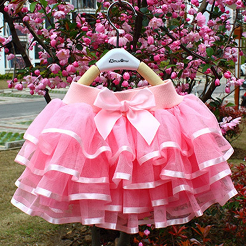 Tutu Skirt Girls Cake Tutu Pettiskirt Dance Mini Skirt Birthday Princess Ball Gown Children Kids Clo