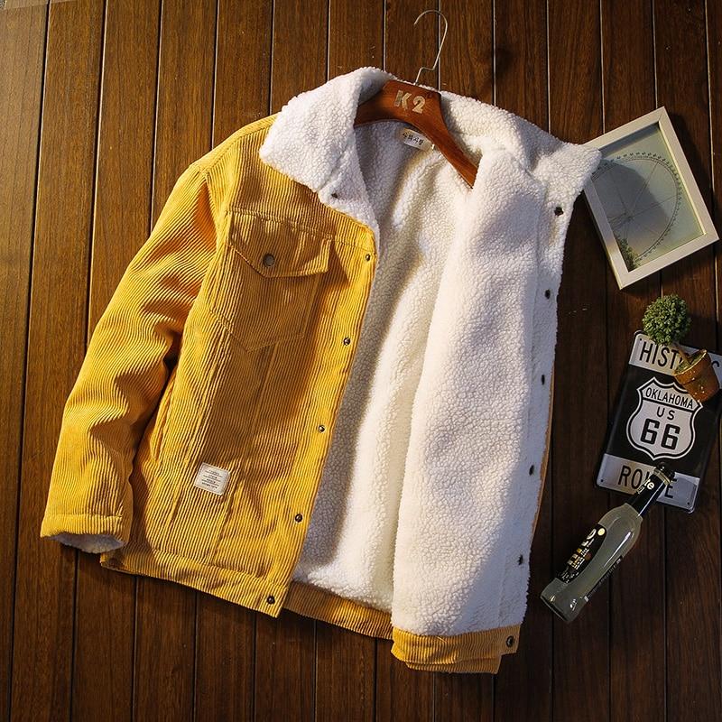 Мужские куртки и пальто Модные теплые вельветовые толстые пальто 2021 зимние модные мужские Пальто Пуховые куртки мужская хлопковая одежда