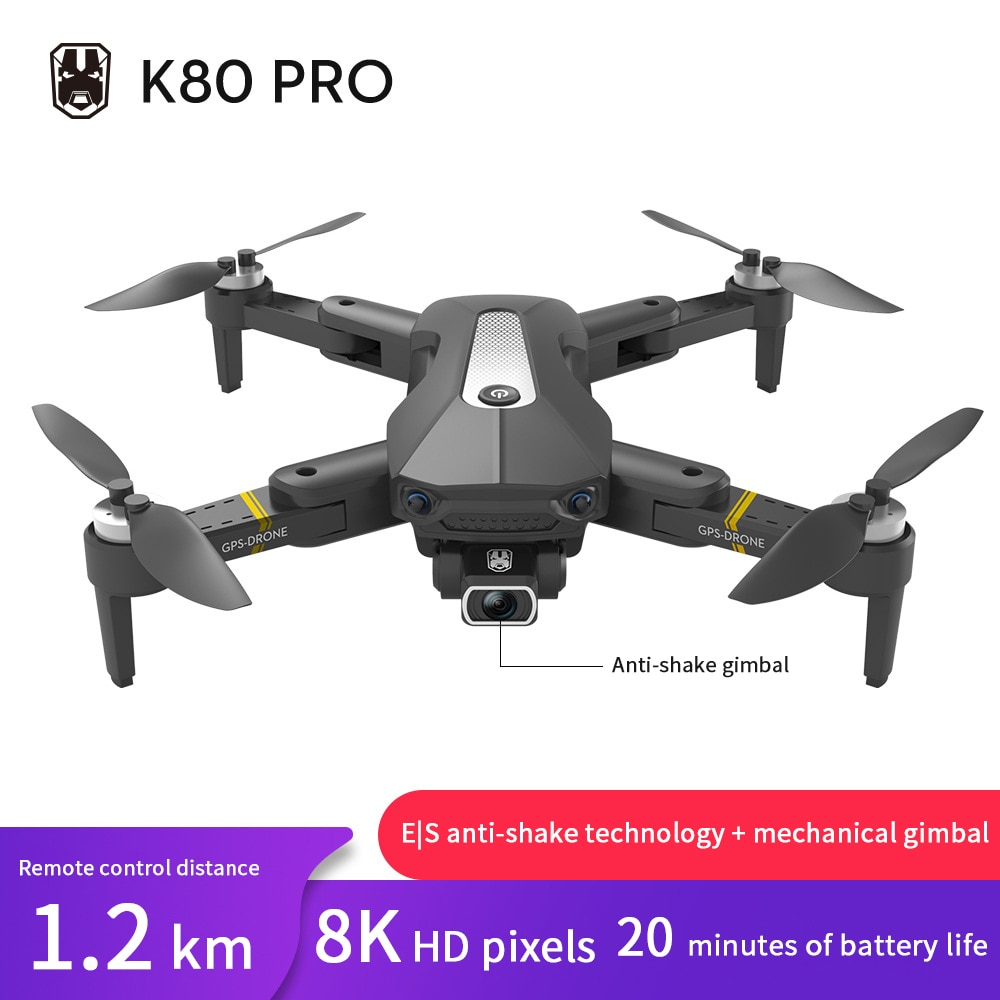 K80 Pro Drone Foldable Bruless GPS 4-Axis Aircraft Professional 4K/8K HD Camera Aerial Photographing Remote Control Toys Gift enlarge