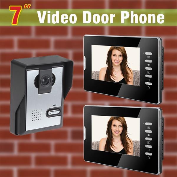 7 дюймов сенсорный экран видеофонная дверная система видео дверной камера видео-дверной домофон видео дверной звонок визуальный домофон ко...