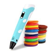 3D Printing Pen 5V 2A 3D Pen Pencil DIY 3D Drawing Pen With ABS/PLA Filament For Kid Child Education
