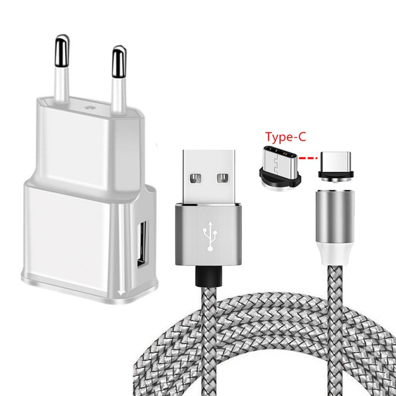 Magnetic Type C Charge Cable For Samsung Galaxy S20 S8 A5 2017 Huawei P20 Honor 20 Pro Google Pixel 4 3 Mobile phone USB Charger