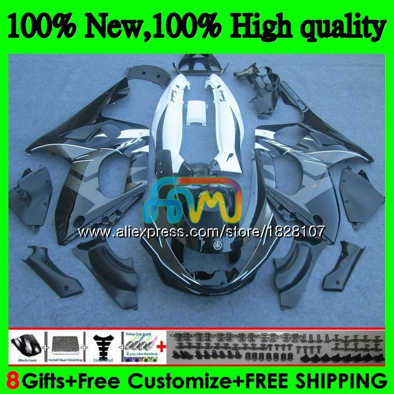 Thundercat لياماها YZF600R 96 02 03 04 2005 2006 2007 73BS.173 YZF 600R YZF-600R 2002 أسود رمادي 2003 2004 05 06 07 هدية