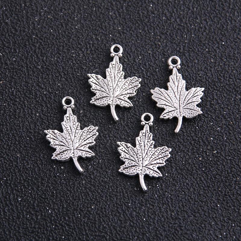 16 pçs 15*23mm antigo tira encantos deixa pingente charme apto pulseiras colar diy jóias de metal que faz