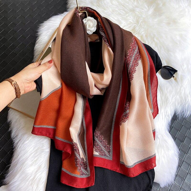 Lujo Boho mujeres algodón bufanda chales pashminas Hijab Foulard Echarpe diseño señora playa estola cabeza bufandas Mujer