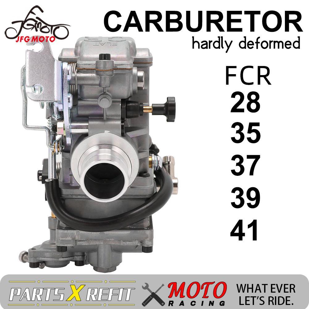 Motocicleta Carburador FCR28 35 37 39 41mm FCR39 Para KTM XR Carburador Flatslide DR400 CRF450 CRF650 KLX 400 450 YZ450F