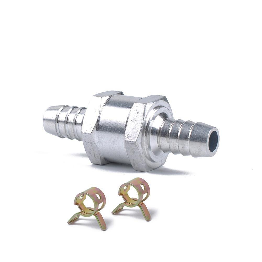 """Válvula de retención de 8MM 5/16 """"de aleación de aluminio sin retorno para gasolina Diesel con Clip de resorte de 12mm accesorios de coche"""