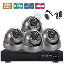 4CH AHD 5 en 1 système DVR de sécurité HDMI 1280x720P 1200TVL AHD caméra de vidéosurveillance extérieure étanche 1.0MP AHD Kit de Surveillance