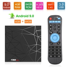 T95 max Android TV Box 9.0 4GB 64GB Smart TV Allwinner H6 Quad Core USD3.0 6K HDR 2.4GHz Wifi  Google Player Youtube T95 max