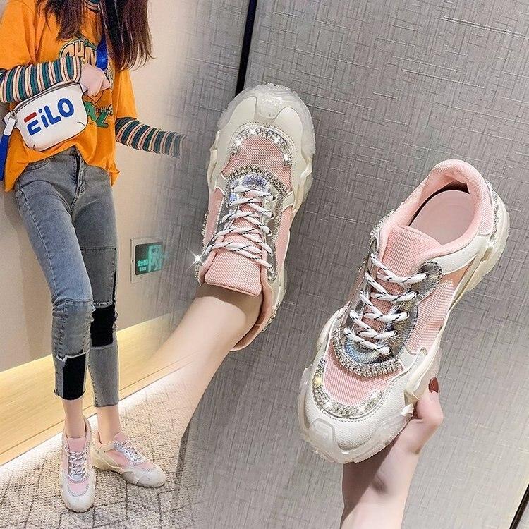 أحذية رياضية Pupu ، مقدمة عصرية ، فم عميق ، كعب مسطح منخفض ، رأس دائري