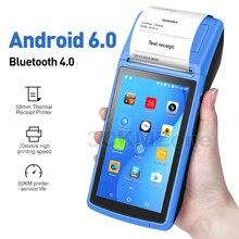Android 6,0 NFC PDA POS Erhalt Bluetooth Drucker PDA Thermische Drucker 58mm Handheld POS Handheld terminal WIFI Bluetooth 3G PDA