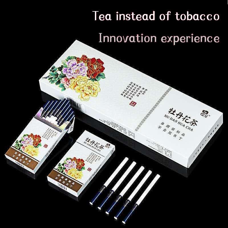 Hot Selling  Peony Tea Cigarette Fine Tea Herbal Cigarettes Women Men Healthy Cigarettes No Nicotine & Tobacco  Free freight