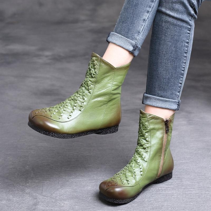 موضة أحذية النساء تصميم المطاط السيدات أحذية مريحة الشتاء قصيرة منصة الأحذية الجولة أحذية غير رسمية