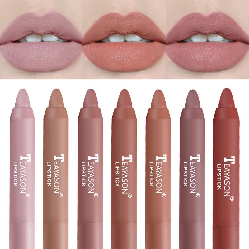 12 Colors Velvet Matte Lipsticks Pencil Waterproof Long Lasting  Red Lip Stick Non-Stick Cup Makeup Lip Tint Pen Cosmetic