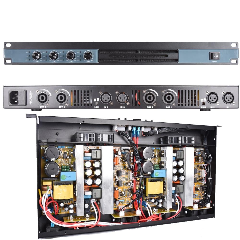 MiCWL عالية الطاقة 6400 واط الرقمية مكبر كهربائي 4 قناة محرك 800 واط المتكلم كل قناة DJ كاريوكي المرحلة ستوديو 5200 واط أمبير