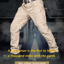 IX7 Spring Men Tactical Pant Multiple Pockets Pants Outdoor Wear-resistant Training Hiking Mountaine
