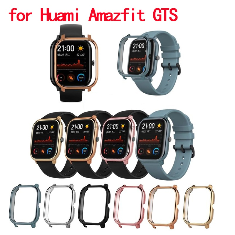 Protector Frame Case Cover for Huami Amazfit GTS Watch Case Electroplating PC Shell Screen Protector cove for Huami Amazfit Bip protection case for huami amazfit bip s replacement pc watch case cover shell frame protector for xiaomi huami amazfit bip lite
