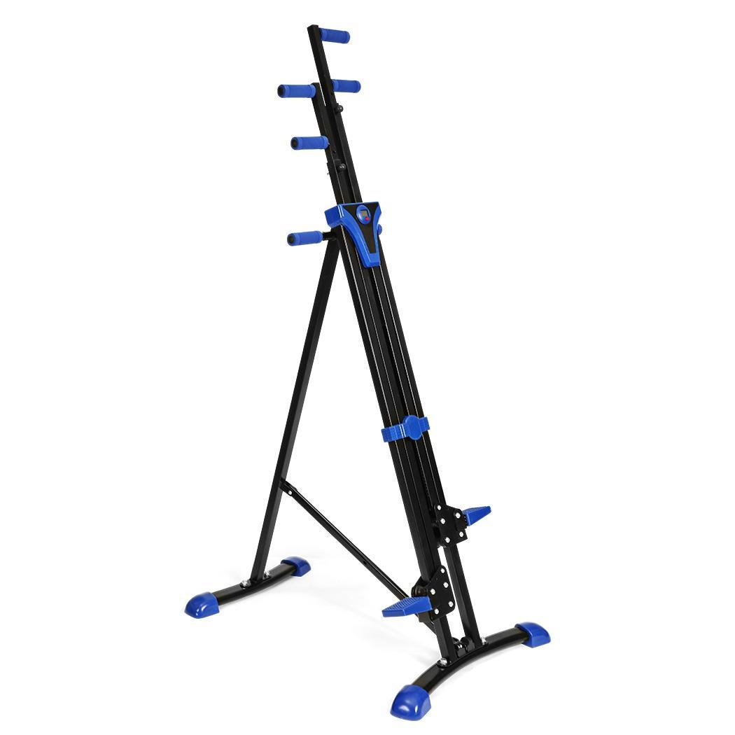 Vertical Climber Adjustable Workout Stepper Legs Arms Training Pedal Exerciser Foldable Fitness Equi