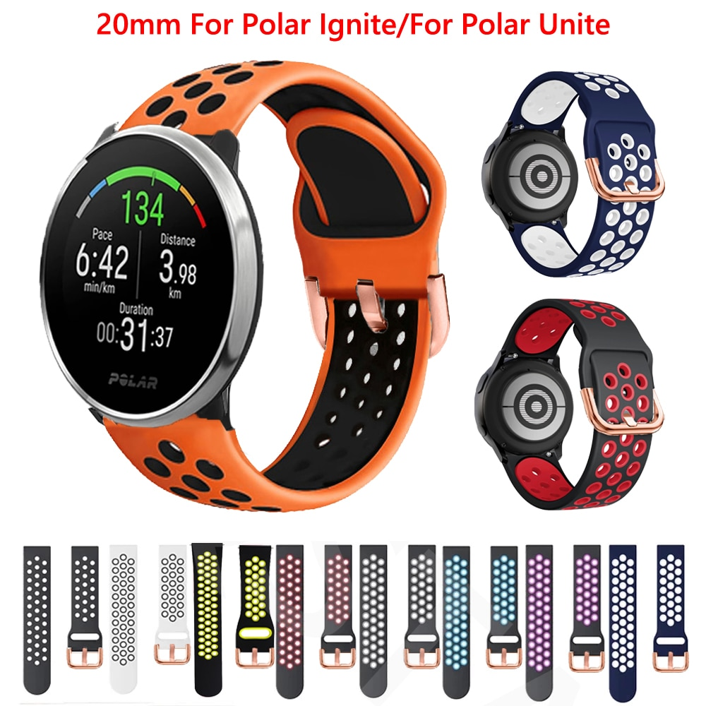 Replacement WatchBand For Polar Unite/Ignite Silicone Strap For Xiaomi Mijia Quartz Watch COROS APEX