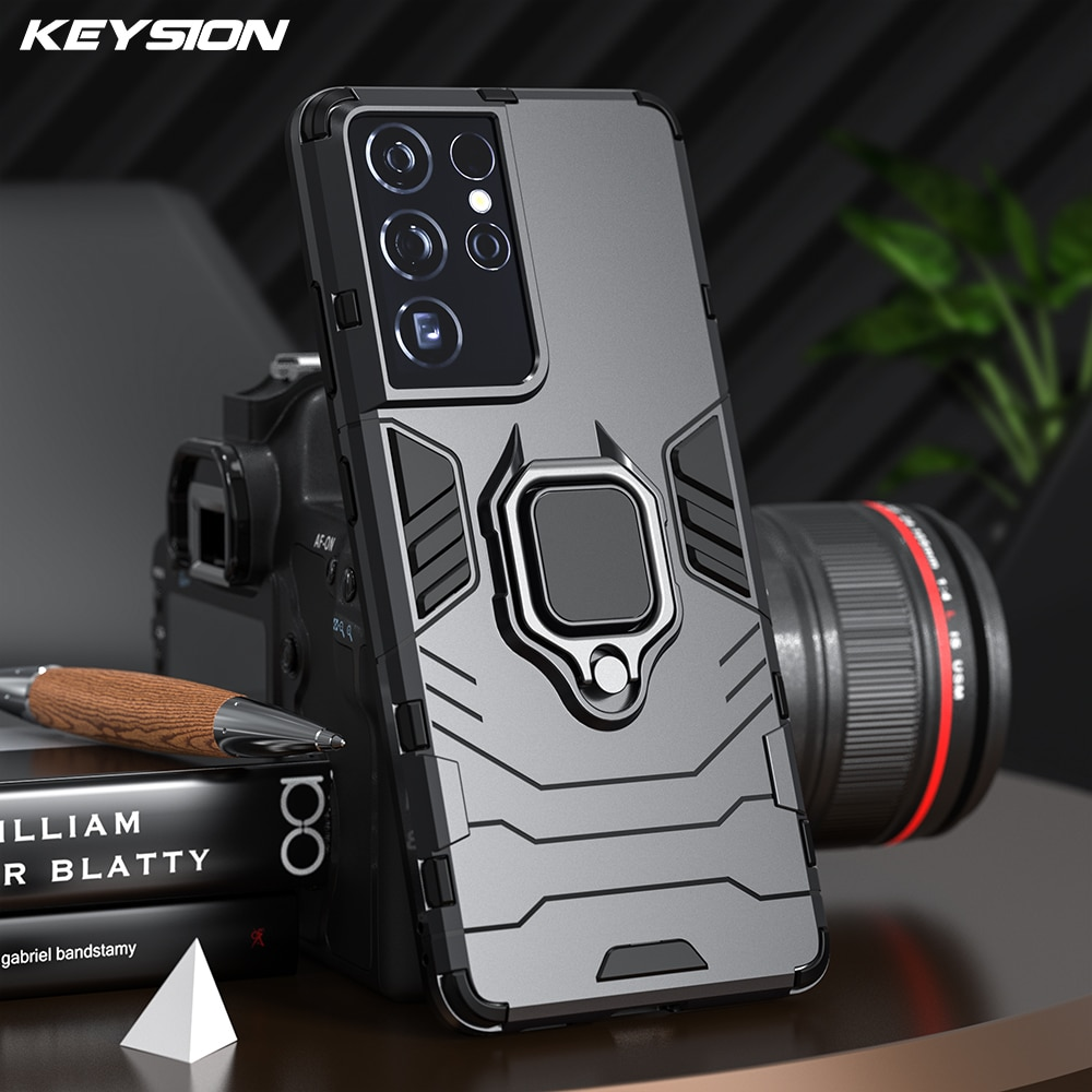 for samsung galaxy s10 5g case rubber robot armor hard back phone cover for samsung galaxy s10 5g case for samsung galaxy s10 5g KEYSION Shockproof Armor Case for Samsung S21 Ultra S21+ Plus 5G Ring Stand Silicone Phone Back Cover for Galaxy S21 S20 FE S10+