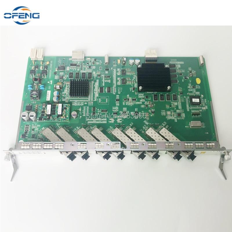 الأصلي والجديد ZTE 8 منافذ GTGO بطاقة GPON المجلس مع 8 قطعة B + C + C ++ SFP وحدات ل ZXA10 c320 C300 GPON OLT