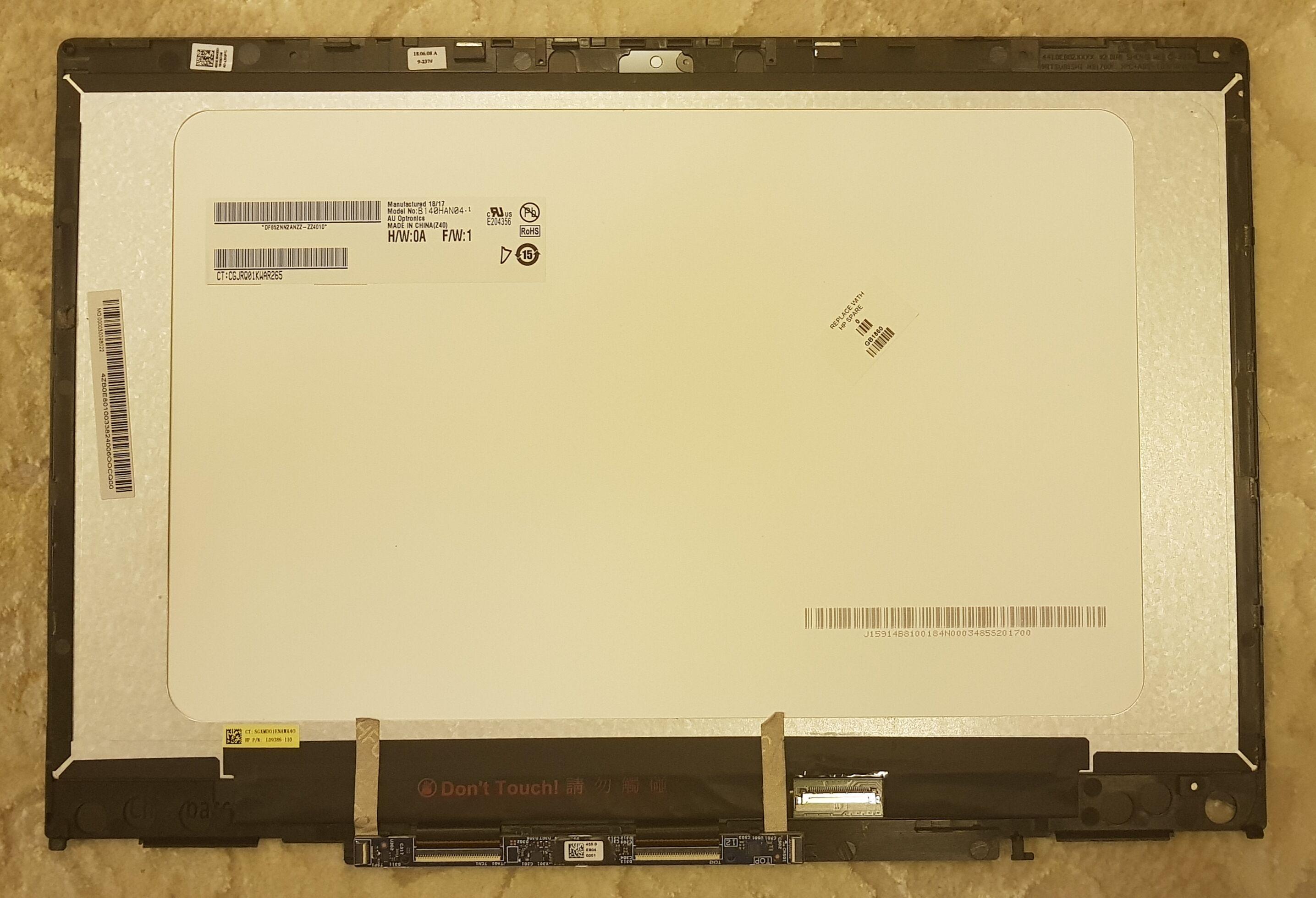 Para HP Pavilion x360 14-cd0015tx 14-cd0016tx 14-cd0017tx 14-cd0018tx IPS FHD pantalla LCD pantalla táctil digitalizador montaje bisel