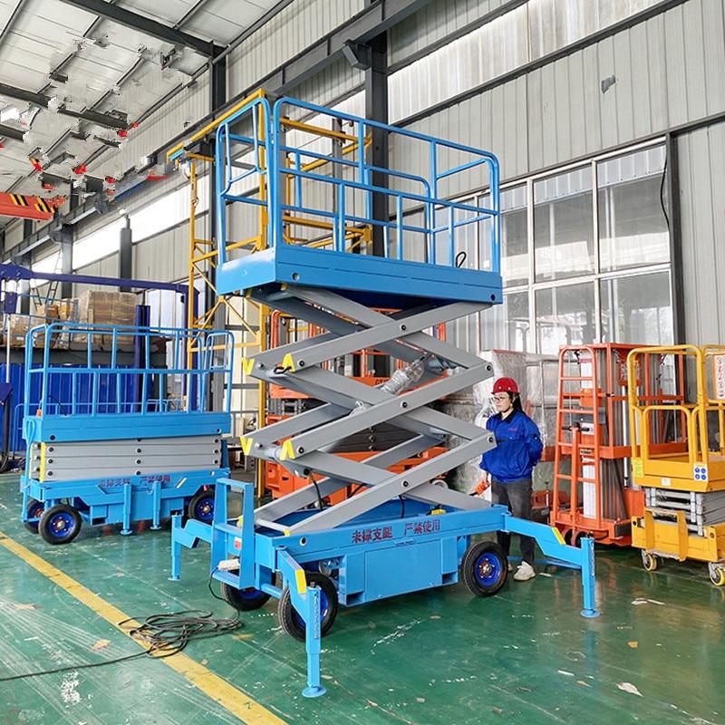 Scissor Cross-Type Electric Platform Semi-Automatic Hydraulic Lifting Dispatching Erolley Portable Elevator Movement