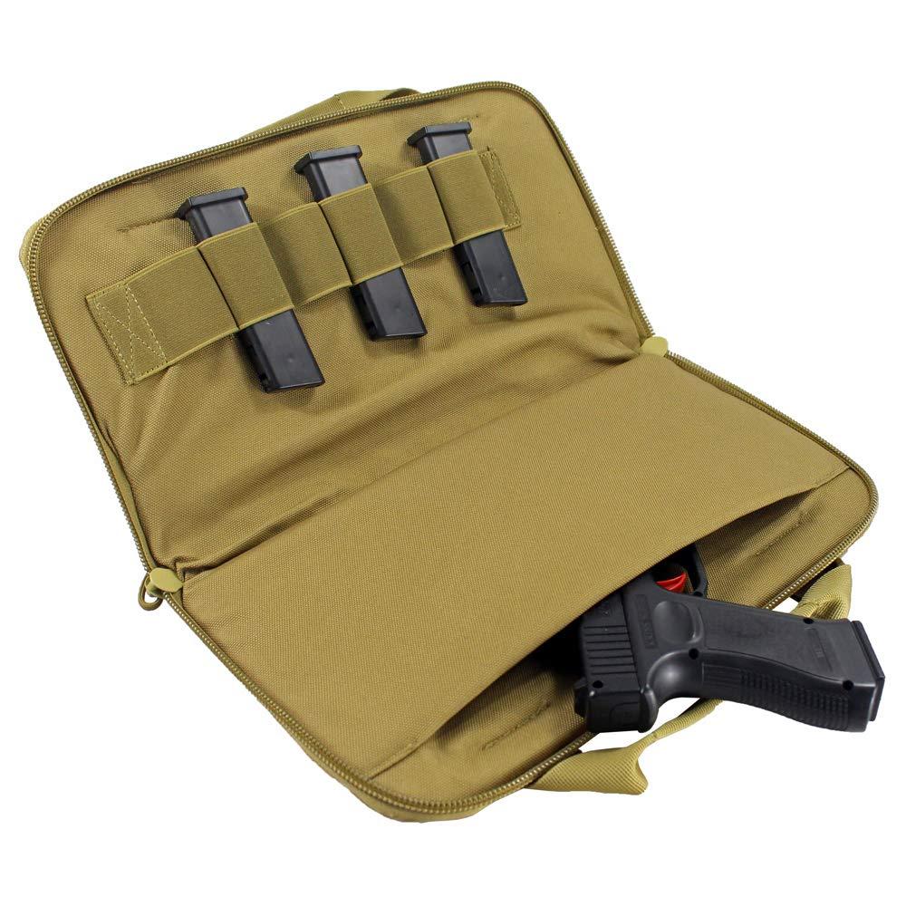 "Funda para bolsa de transporte de pistola de caza 12 ""bolsa de transporte de arma con bolsas de Revista Funda de pistola acolchada porta pistola Kit de pesca"