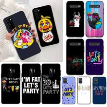 CUTEWANAN Lets Party Funny Slogan Phone Cover Capa for Samsung S20 plus Ultra S6 S7 edge S8 S9 plus